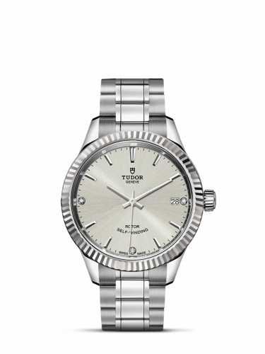 Tudor M12310-0007 : Style 34 Stainless Steel / Fluted / Silver-Diamond / Bracelet
