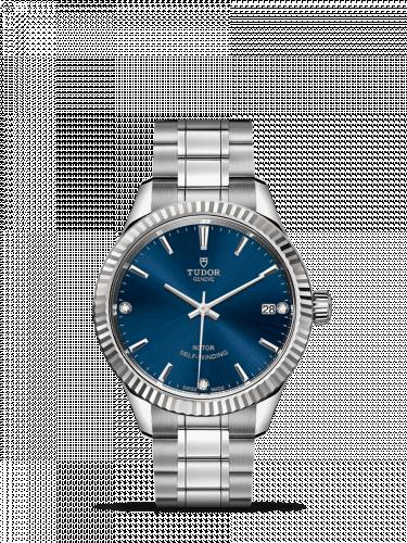 Tudor M12310-0017 : Style 34 Stainless Steel / Fluted / Blue-Diamond / Bracelet