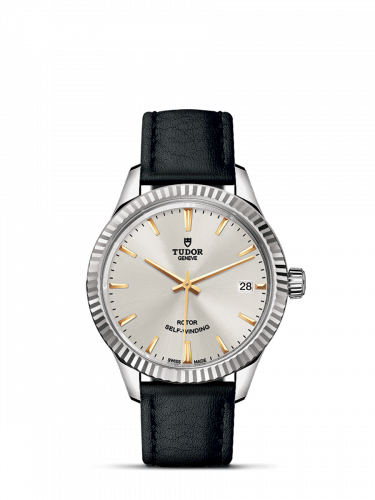 Tudor M12310-0023 : Style 34 Stainless Steel / Fluted / Silver / Strap