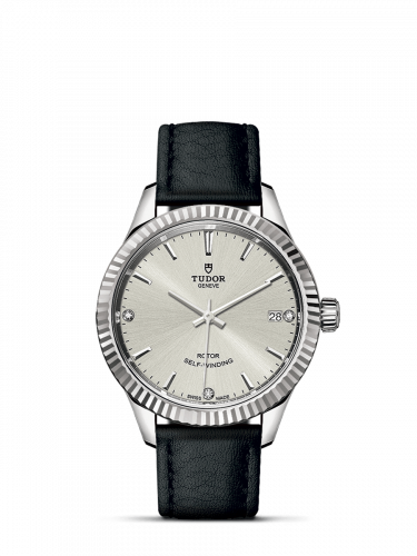 Tudor M12310-0024 : Style 34 Stainless Steel / Fluted / Silver-Diamond / Strap