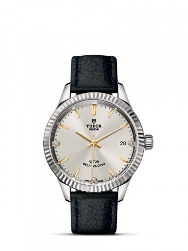 Tudor M12310-0026 : Style 34 Stainless Steel / Fluted / Silver-Diamond / Strap
