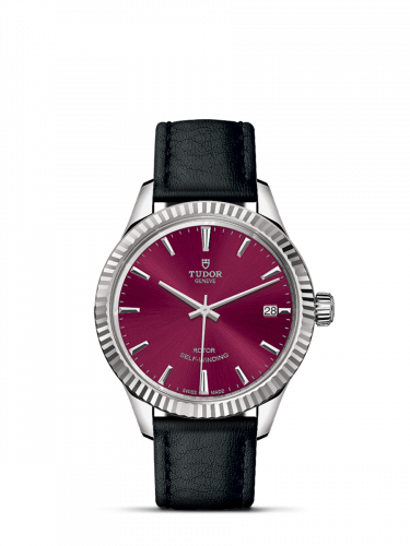 Tudor M12310-0028 : Style 34 Stainless Steel / Fluted / Burgundy / Strap