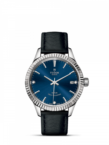 Tudor M12310-0029 : Style 34 Stainless Steel / Fluted / Blue-Diamond / Strap