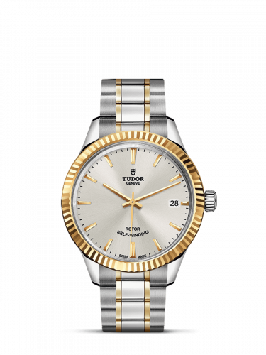 Tudor M12313-0003 : Style 34 Stainless Steel / Yellow Gold / Fluted / Silver / Bracelet