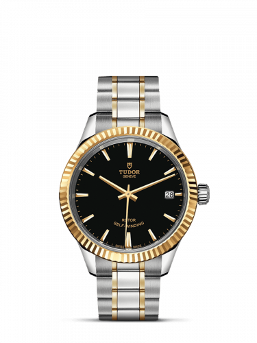 Tudor M12313-0005 : Style 34 Stainless Steel / Yellow Gold / Fluted / Black / Bracelet
