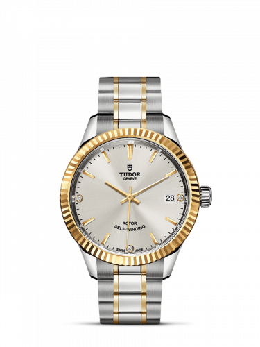 Tudor M12313-0009 : Style 34 Stainless Steel / Yellow Gold / Fluted / Silver-Diamond / Bracelet