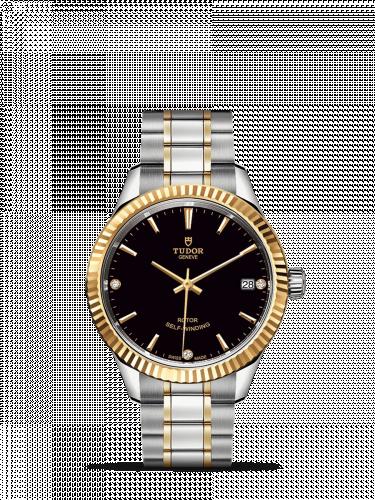 Tudor M12313-0011 : Style 34 Stainless Steel / Yellow Gold / Fluted / Black-Diamond / Bracelet