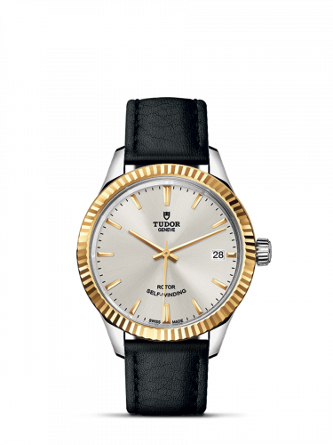Tudor M12313-0018 : Style 34 Stainless Steel / Yellow Gold / Fluted / Silver / Strap