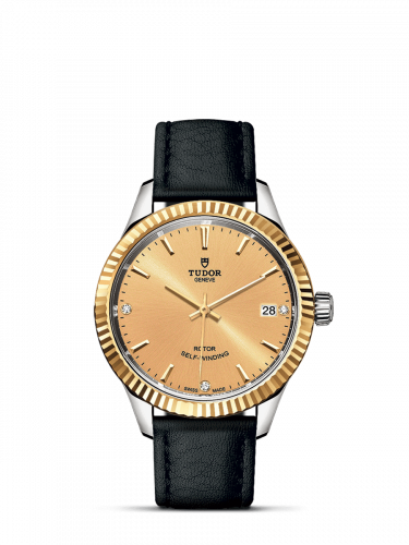 Tudor M12313-0020 : Style 34 Stainless Steel / Yellow Gold / Fluted / Champagne-Diamond / Strap