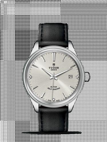 Tudor M12500-0007 : Style 38 Stainless Steel / Silver-Diamond / Strap