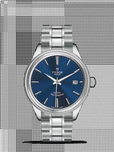 Tudor M12500-0009 : Style 38 Stainless Steel / Blue / Bracelet