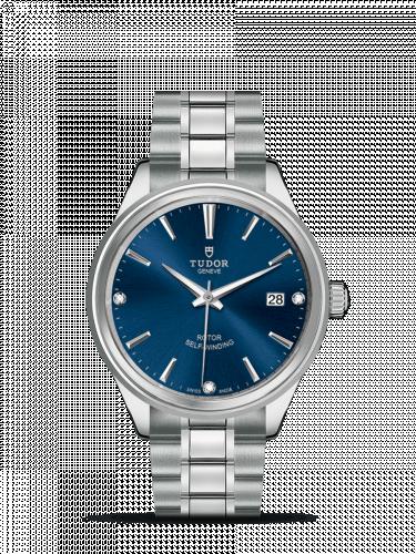 Tudor M12500-0013 : Style 38 Stainless Steel / Blue-Diamond / Bracelet