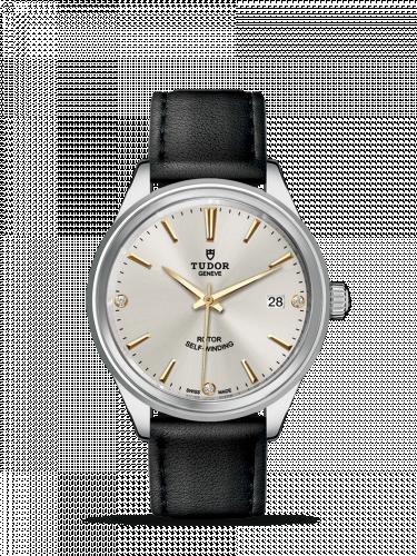 Tudor M12500-0020 : Style 38 Stainless Steel / Silver-Diamond / Strap