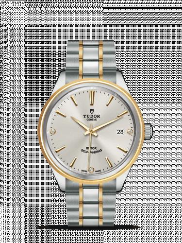 Tudor M12503-0005 : Style 38 Stainless Steel / Yellow Gold / Silver-Diamond / Bracelet