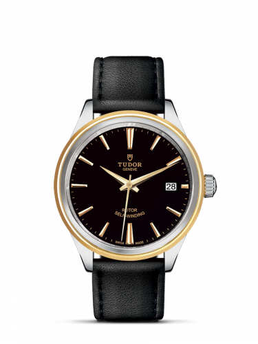 Tudor M12503-0009 : Style 38 Stainless Steel / Yellow Gold / Black / Strap