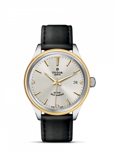 Tudor M12503-0011 : Style 38 Stainless Steel / Yellow Gold / Silver-Diamond / Strap