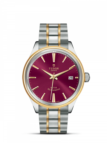 Tudor M12503-0013 : Style 38 Stainless Steel / Yellow Gold / Burgundy / Bracelet