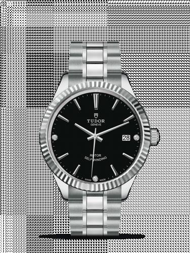 Tudor M12510-0009 : Style 38 Stainless Steel / Fluted / Black-Diamond / Bracelet