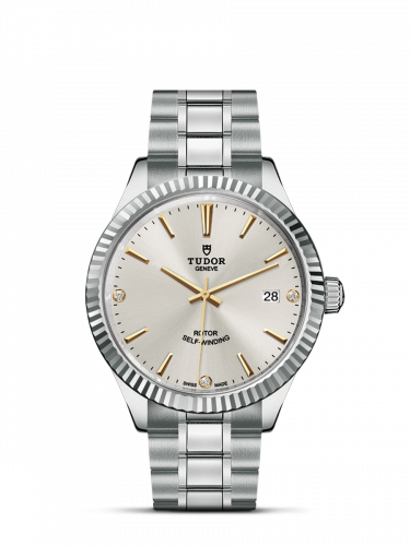 Tudor M12510-0011 : Style 38 Stainless Steel / Fluted / Silver-Diamond / Bracelet