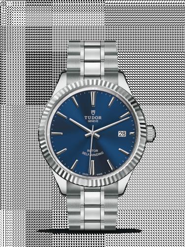 Tudor M12510-0013 : Style 38 Stainless Steel / Fluted / Blue / Bracelet