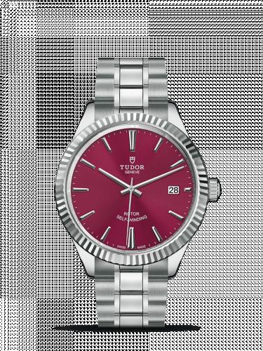 Tudor M12510-0015 : Style 38 Stainless Steel / Fluted / Burgundy / Bracelet