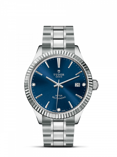 Tudor M12510-0017 : Style 38 Stainless Steel / Fluted / Blue-Diamond / Bracelet