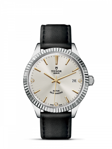 Tudor M12510-0026 : Style 38 Stainless Steel / Fluted / Silver-Diamond / Strap
