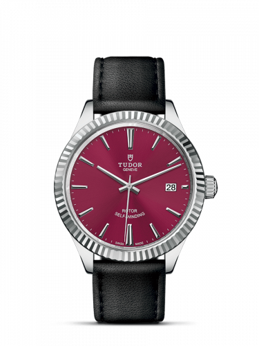 Tudor M12510-0028 : Style 38 Stainless Steel / Fluted / Burgundy / Strap