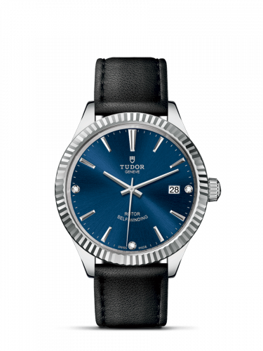 Tudor M12510-0029 : Style 38 Stainless Steel / Fluted / Blue-Diamond / Strap