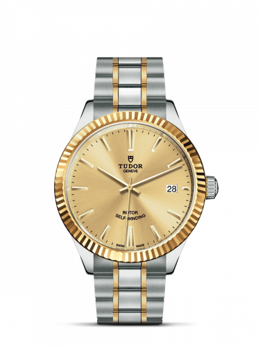 Tudor M12513-0001 : Style 38 Stainless Steel / Yellow Gold / Fluted / Champagne / Bracelet