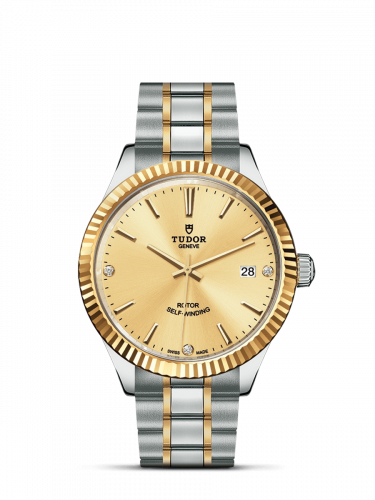 Tudor M12513-0007 : Style 38 Stainless Steel / Yellow Gold / Fluted / Champagne-Diamond / Bracelet