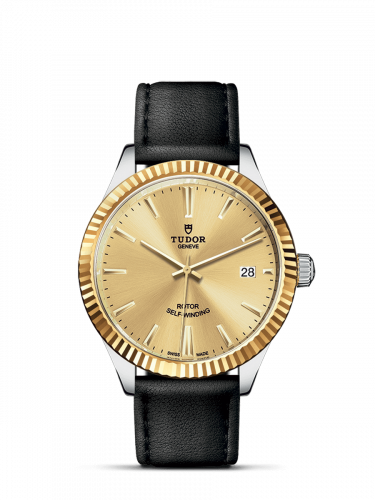 Tudor M12513-0017 : Style 38 Stainless Steel / Yellow Gold / Fluted / Champagne / Strap