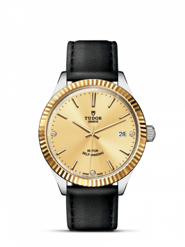 Tudor M12513-0020 : Style 38 Stainless Steel / Yellow Gold / Fluted / Champagne-Diamond / Strap