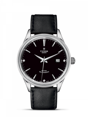 Tudor M12700-0008 : Style 41 Stainless Steel / Black-Diamond / Strap
