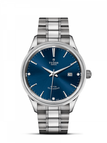 Tudor M12700-0013 : Style 41 Stainless Steel / Blue-Diamond / Bracelet