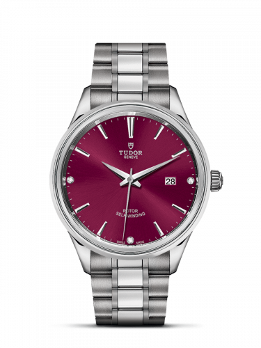Tudor M12700-0015 : Style 41 Stainless Steel / Burgundy-Diamond / Bracelet