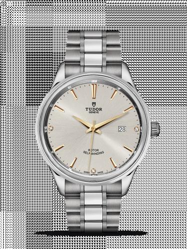 Tudor M12700-0019 : Style 41 Stainless Steel / Silver-Diamond / Bracelet