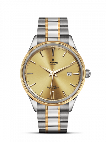 Tudor M12703-0001 : Style 41 Stainless Steel / Yellow Gold / Champagne / Bracelet