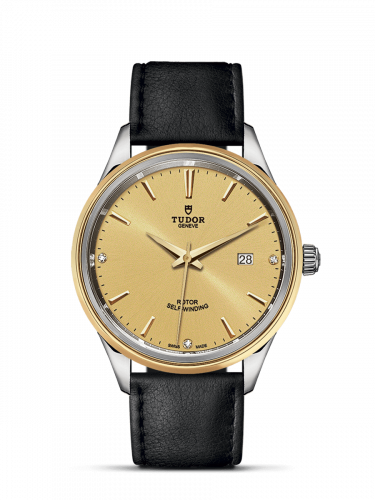 Tudor M12703-0010 : Style 41 Stainless Steel / Yellow Gold / Champagne-Diamond / Strap