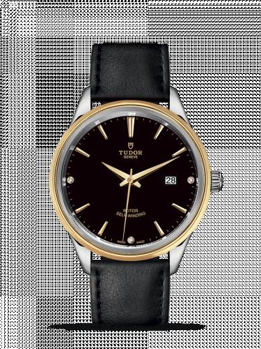 Tudor M12703-0012 : Style 41 Stainless Steel / Yellow Gold / Black-Diamond / Strap
