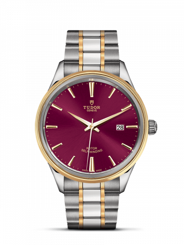 Tudor M12703-0013 : Style 41 Stainless Steel / Yellow Gold / Burgundy / Bracelet