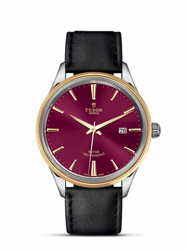 Tudor M12703-0014 : Style 41 Stainless Steel / Yellow Gold / Burgundy / Strap