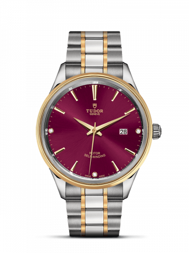 Tudor M12703-0015 : Style 41 Stainless Steel / Yellow Gold / Burgundy-Diamond / Bracelet