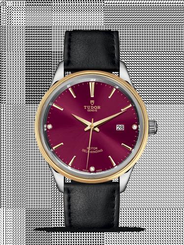 Tudor M12703-0016 : Style 41 Stainless Steel / Yellow Gold / Burgundy-Diamond / Strap