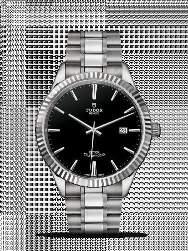 Tudor M12710-0003 : Style 41 Stainless Steel / Fluted / Black / Bracelet