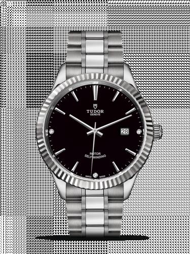 Tudor M12710-0009 : Style 41 Stainless Steel / Fluted / Black-Diamond / Bracelet