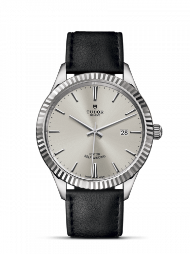 Tudor M12710-0021 : Style 41 Stainless Steel / Fluted / Silver / Strap