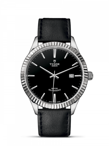 Tudor M12710-0022 : Style 41 Stainless Steel / Fluted / Black / Strap