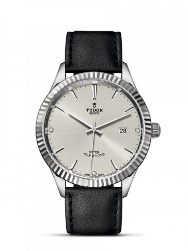 Tudor M12710-0024 : Style 41 Stainless Steel / Fluted / Silver-Diamond / Strap