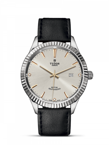 Tudor M12710-0026 : Style 41 Stainless Steel / Fluted / Silver-Diamond / Strap